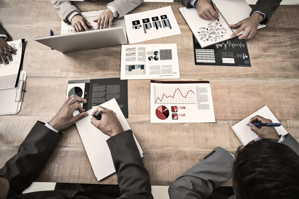 Brainstorm against business interface with graphs and data-1